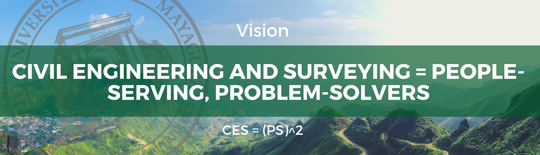 Department of Civil Engineering and Surveying Vision