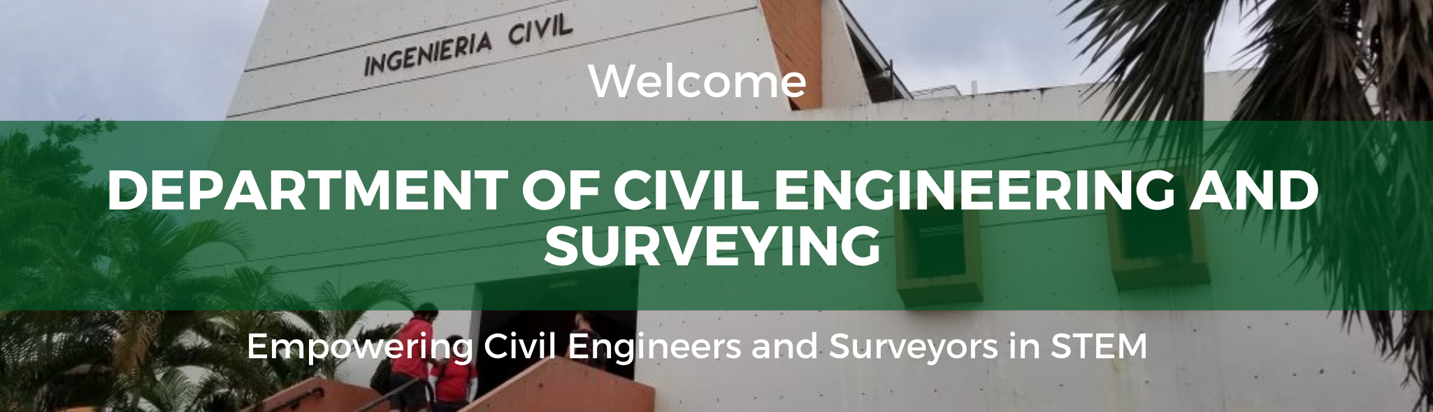 Department of Civil Engineering and Surveying Welcome