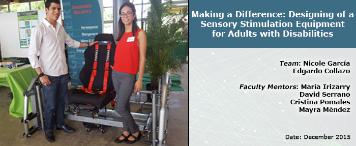 Design of a Sensory Stimulation Equipment for Adults with Disabilities - Capstone Slider