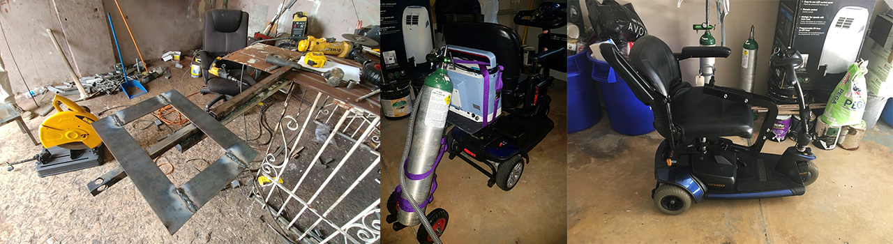 Making the Difference: Design and Construction of Removable Oxygen Tank and Respirator Adapter for Scooter Wheelchairs (Slideshow image)