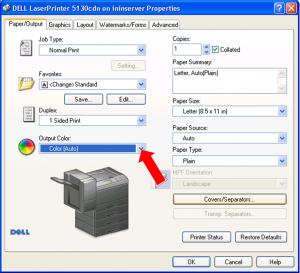 Instrucciones para configuración de impresión a color #4