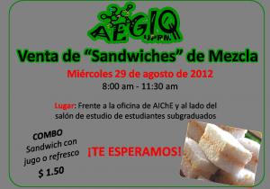 Venta de Sandwiches - 29 Ago 2012